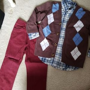 3 pc preppy outfit